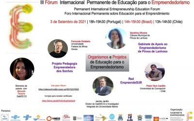 III Fórum Internacional Permanente de Educação para o Empreendedorismo
