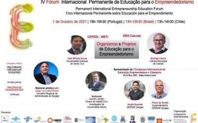 IV Fórum Internacional Permanente de Educação para o Empreendedorismo (FIPEE)