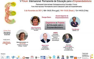 V Fórum Internacional Permanente de Educação para o Empreendedorismo